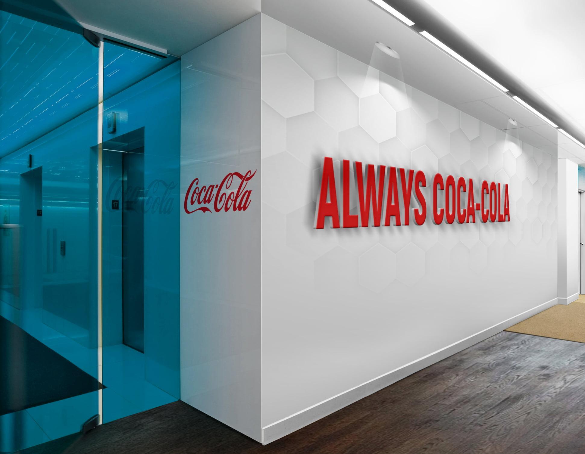 Coca-Cola-3D-Wall-Logo-&-Slogan-Mockup