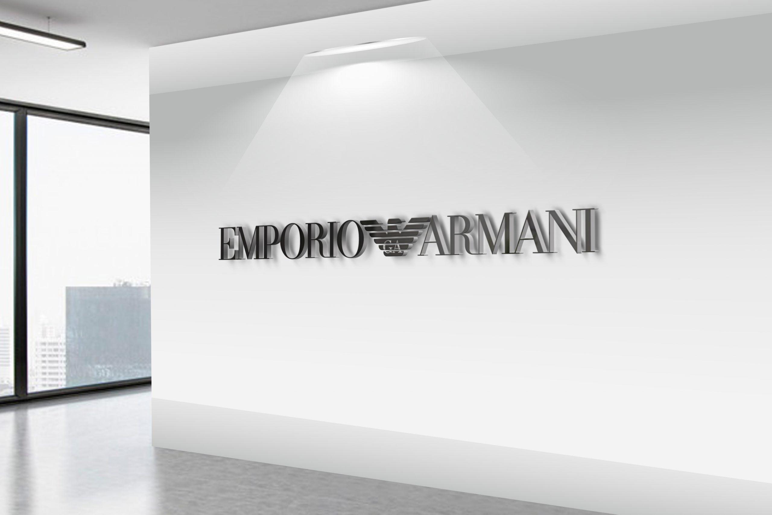 Emporio-Armani-3D-Wall-Logo-MockUp