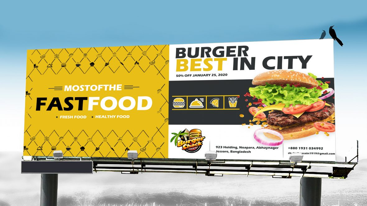 Fast Food PSD Billboard Banner Template