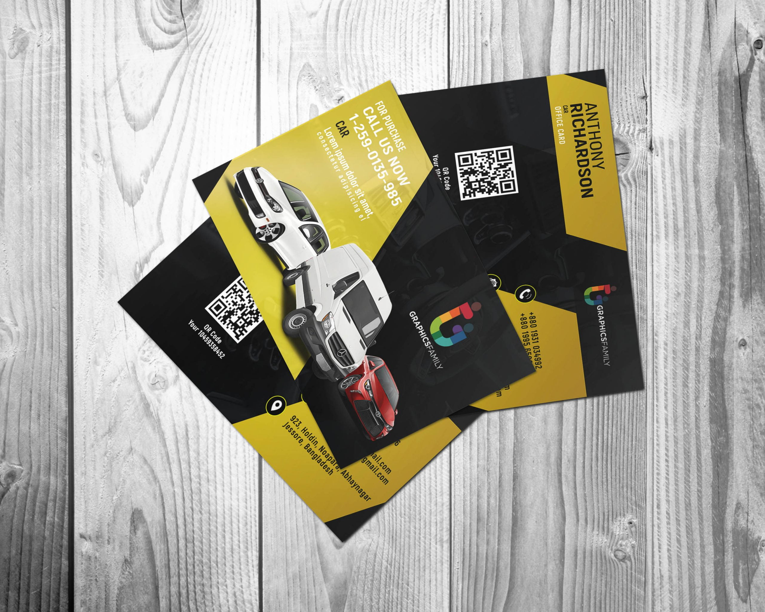 Free Download Stylish Automotive Business Card Design