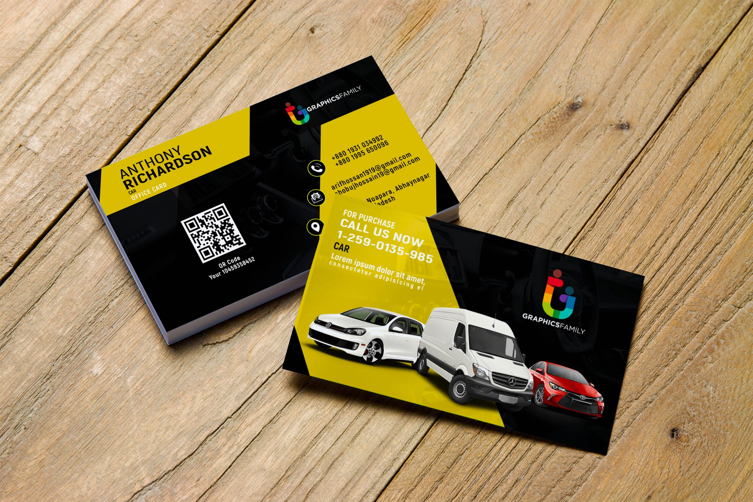 Free Stylish Automotive Business Card Design