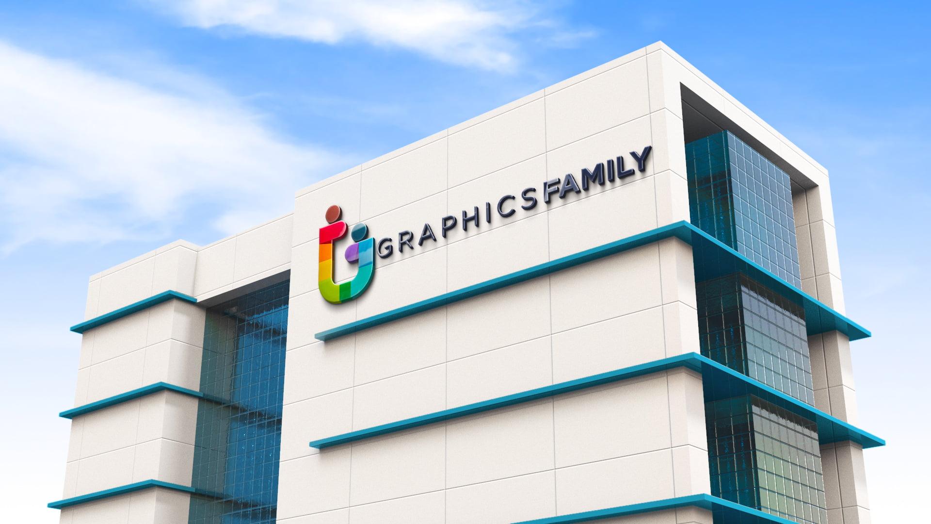 Business Building Logo Mockup