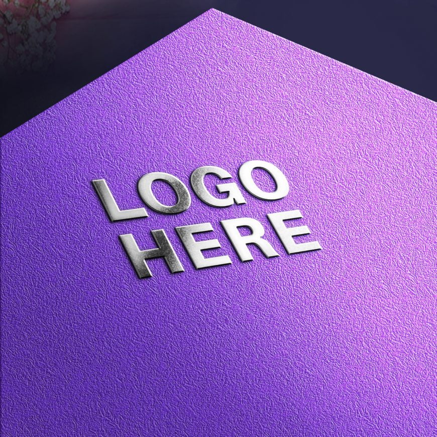 Metallic Shine Logo Mockup