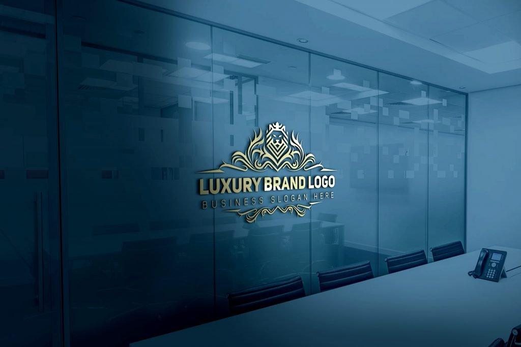 Luxury-Logo-3D-Glass-Logo-Mockup-Free-Download
