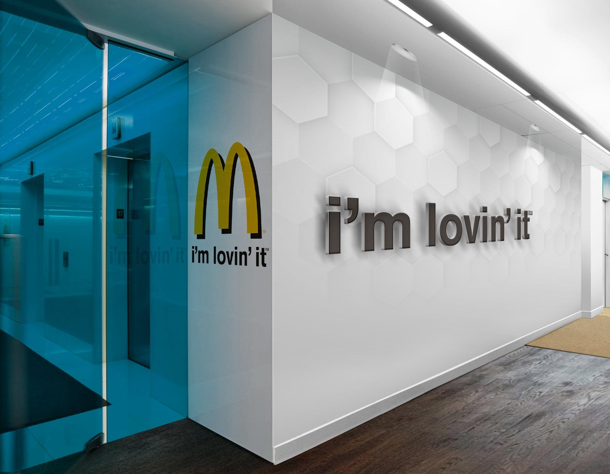 McDonalds-3D-Wall-Logo-&-Slogan-Mockup