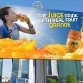 Orange Juice Advertising Billboard Template
