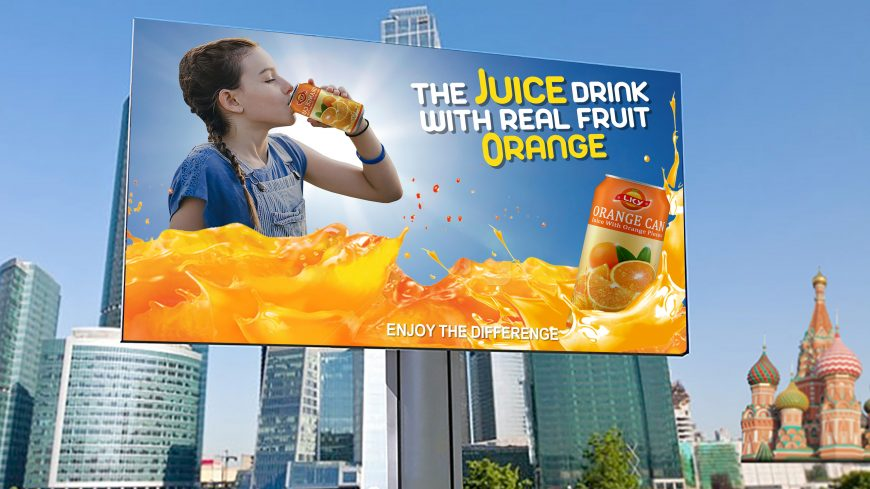 Orange Juice Advertising Billboard Template