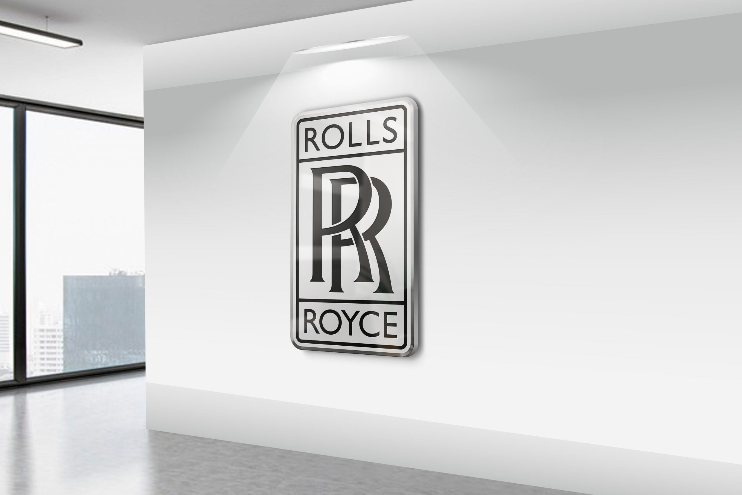 Rolls-Royce-Realistic-3D-Wall-Logo-MockUp