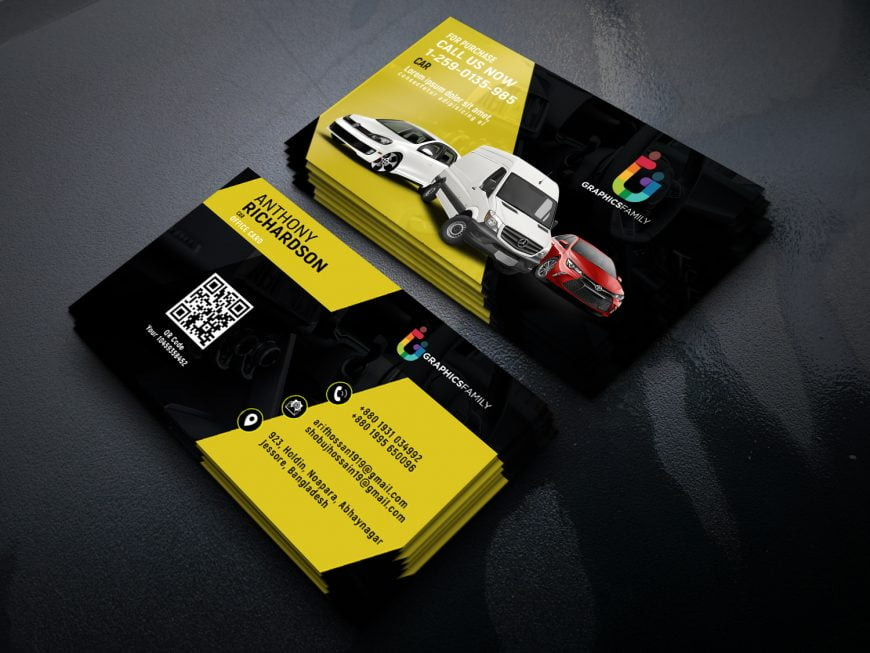 Stylish Automotive Business Card Design