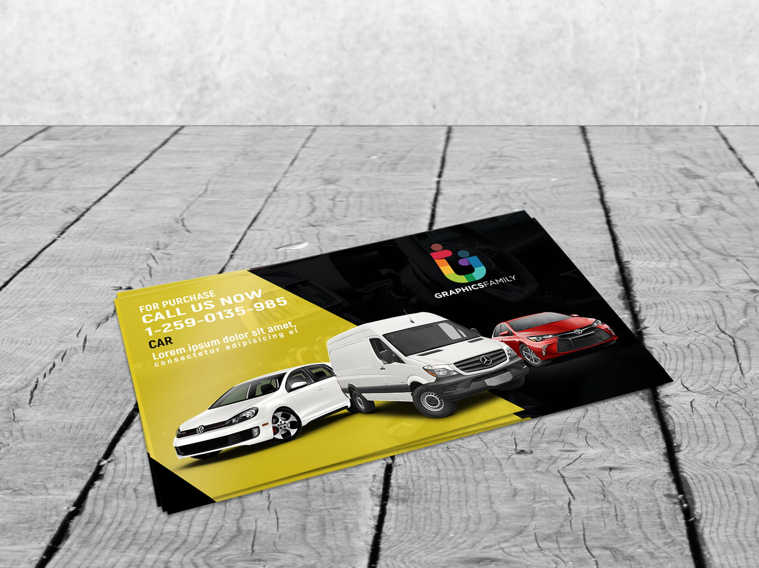 Stylish Automotive Business Card Design Download