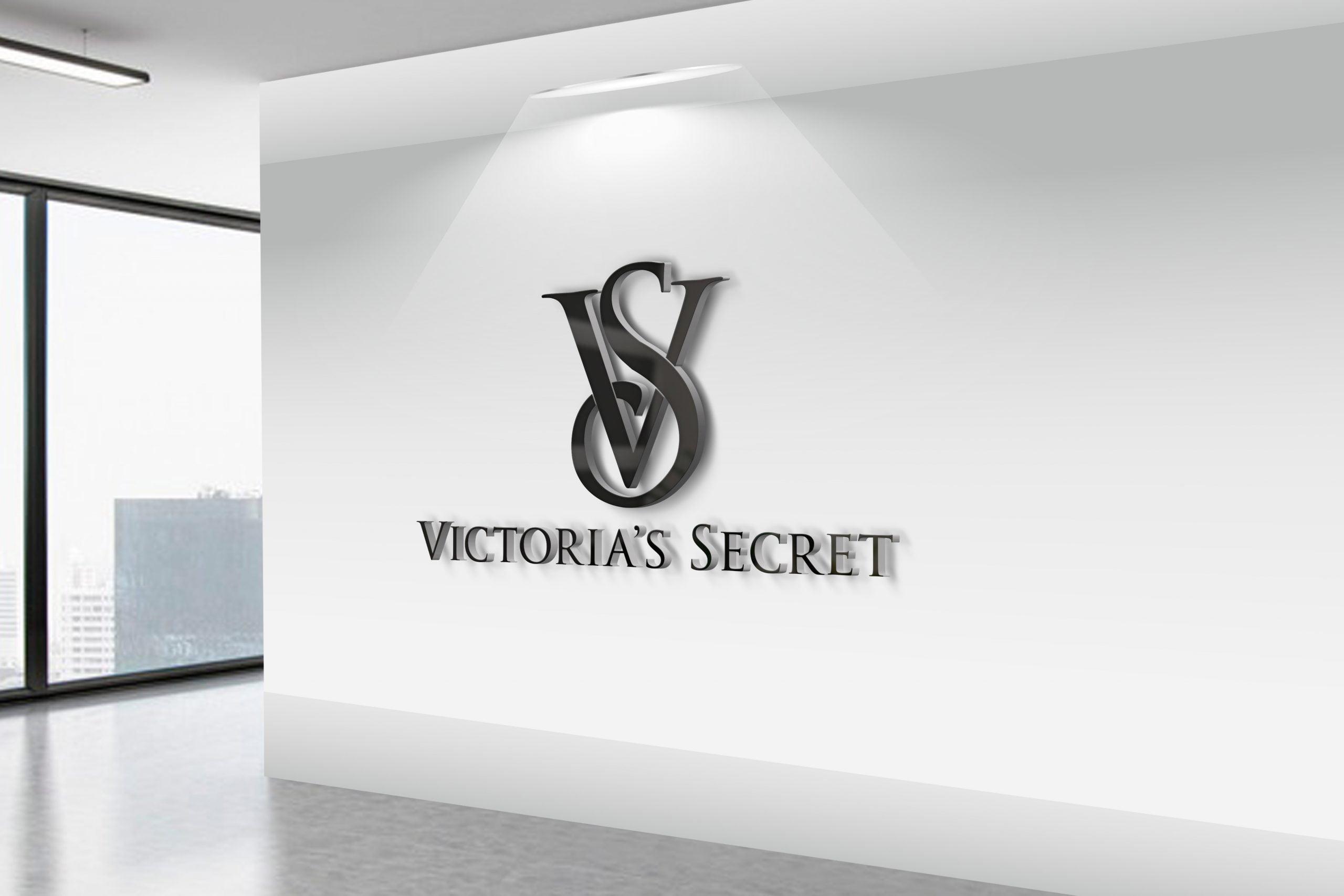 Victoria's-Secret-3D-Wall-Logo-MockUp