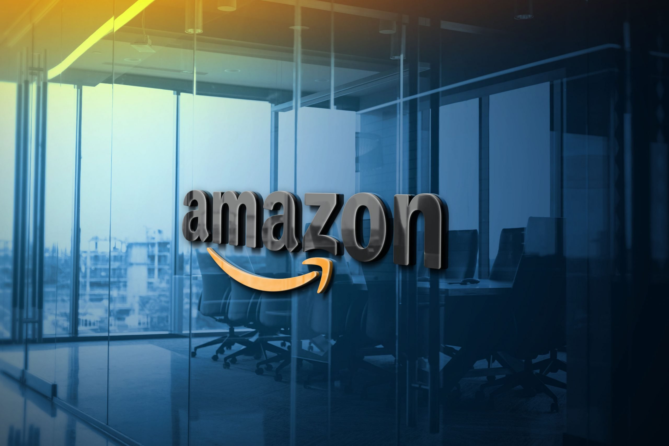 Amazon-Blue-Glass-Logo-Mockup