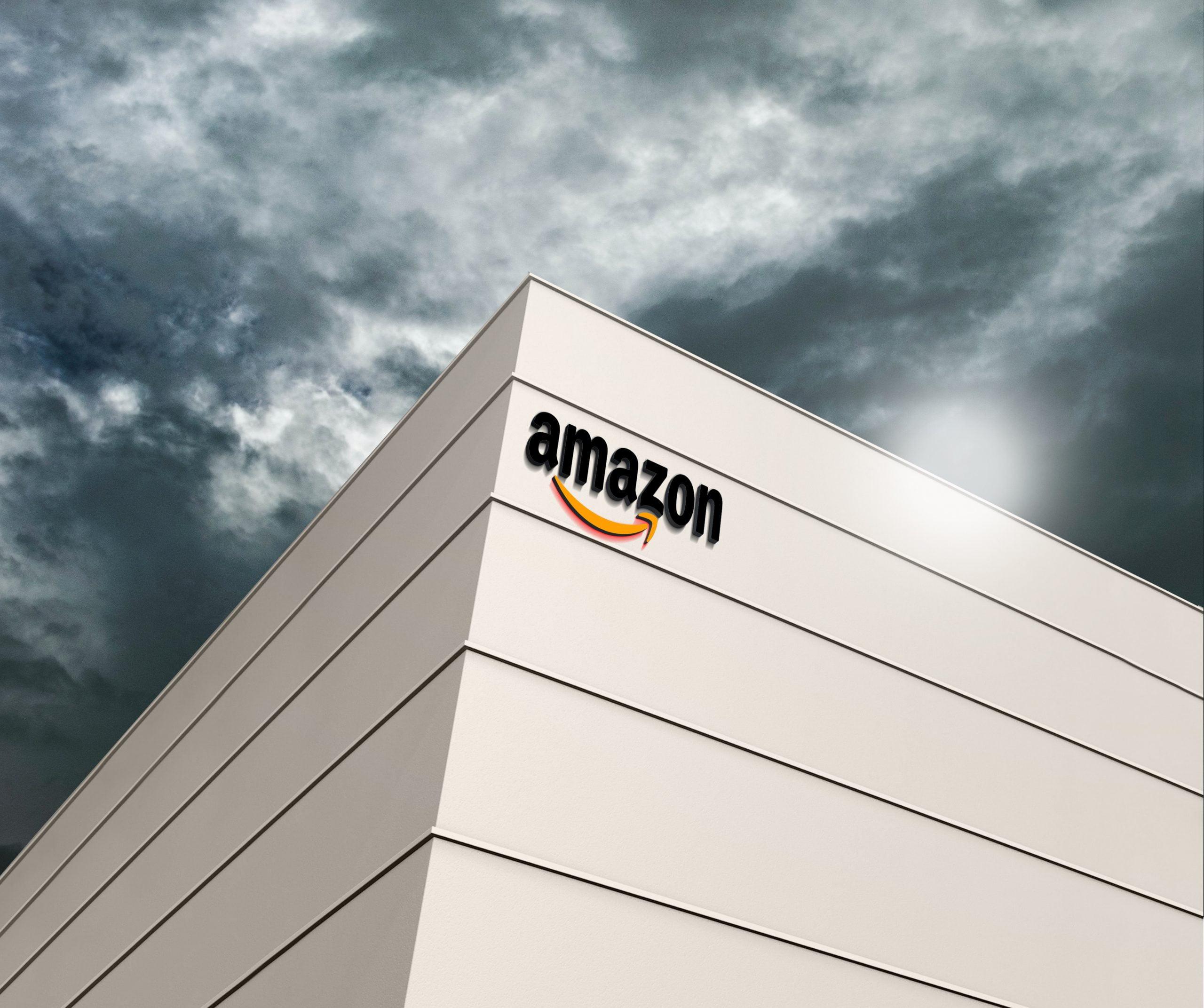 Amazon Logo Free 3D Building Logo Mockup