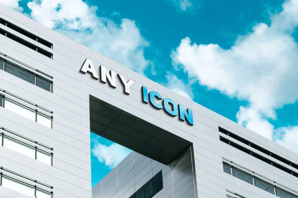 Any Icon 3D Company Logo Mockup