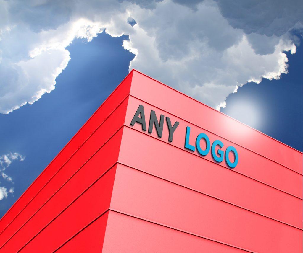 Any Logo Free Building Logo Mockup