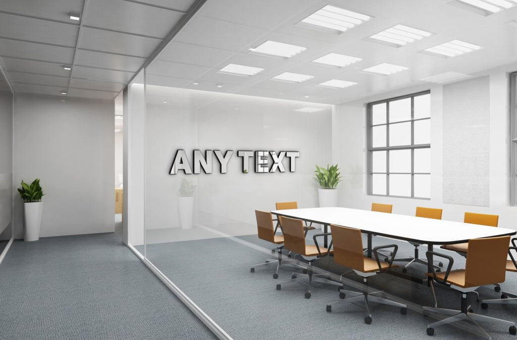 Any Text Free Office Logo Mockup