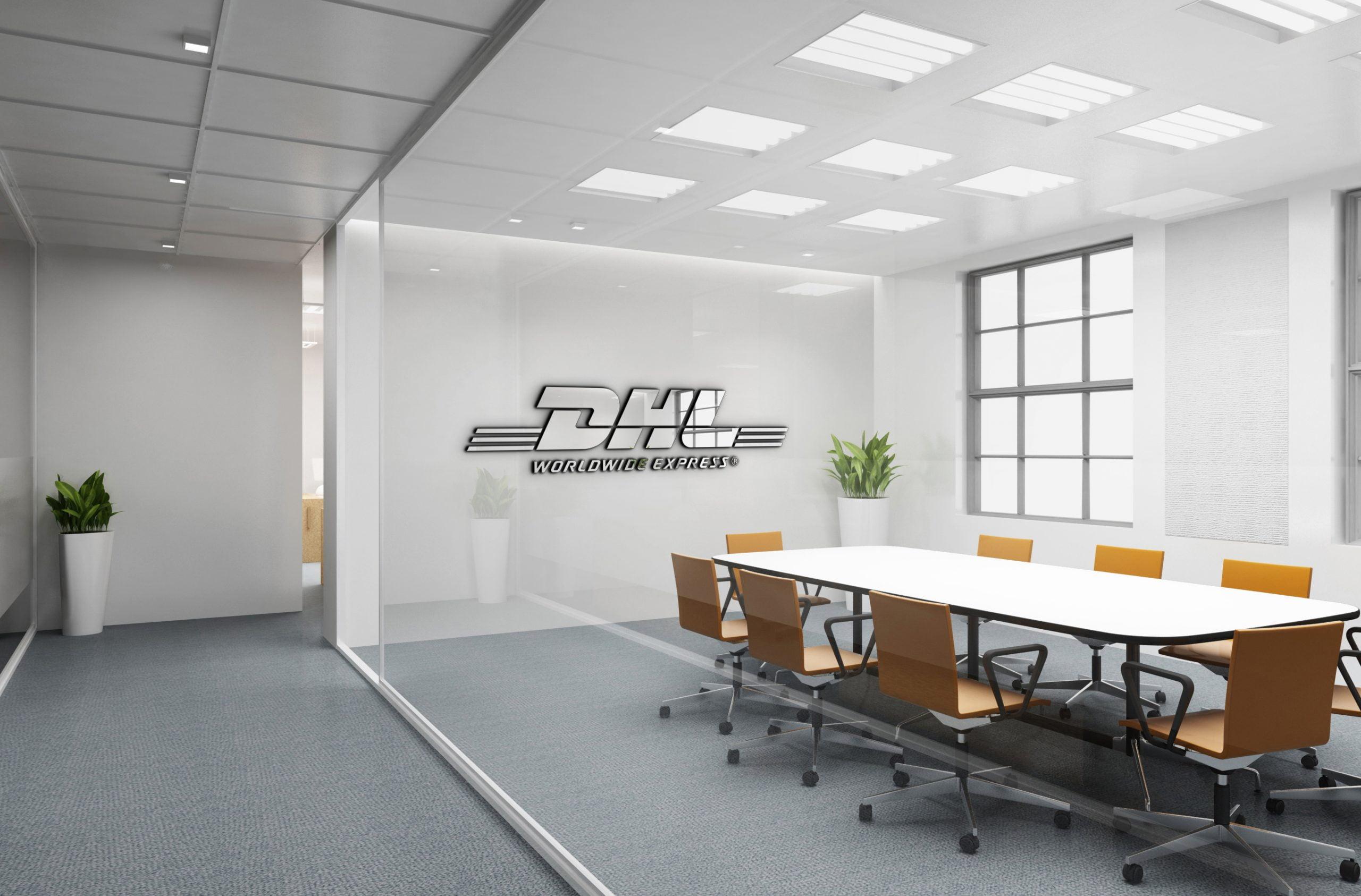DHL Free Office Logo Mockup