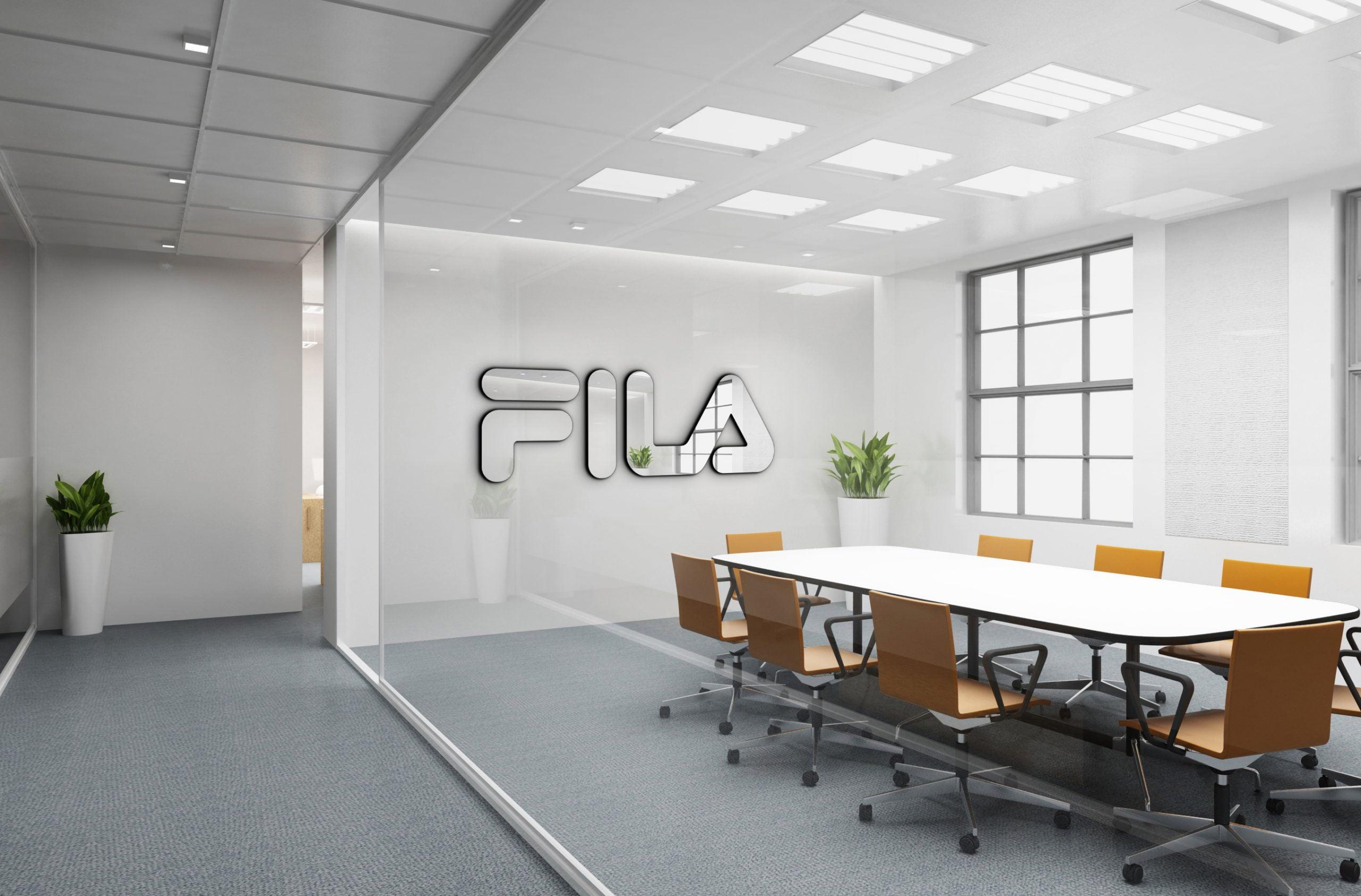 Fila Free Office Logo Mockup