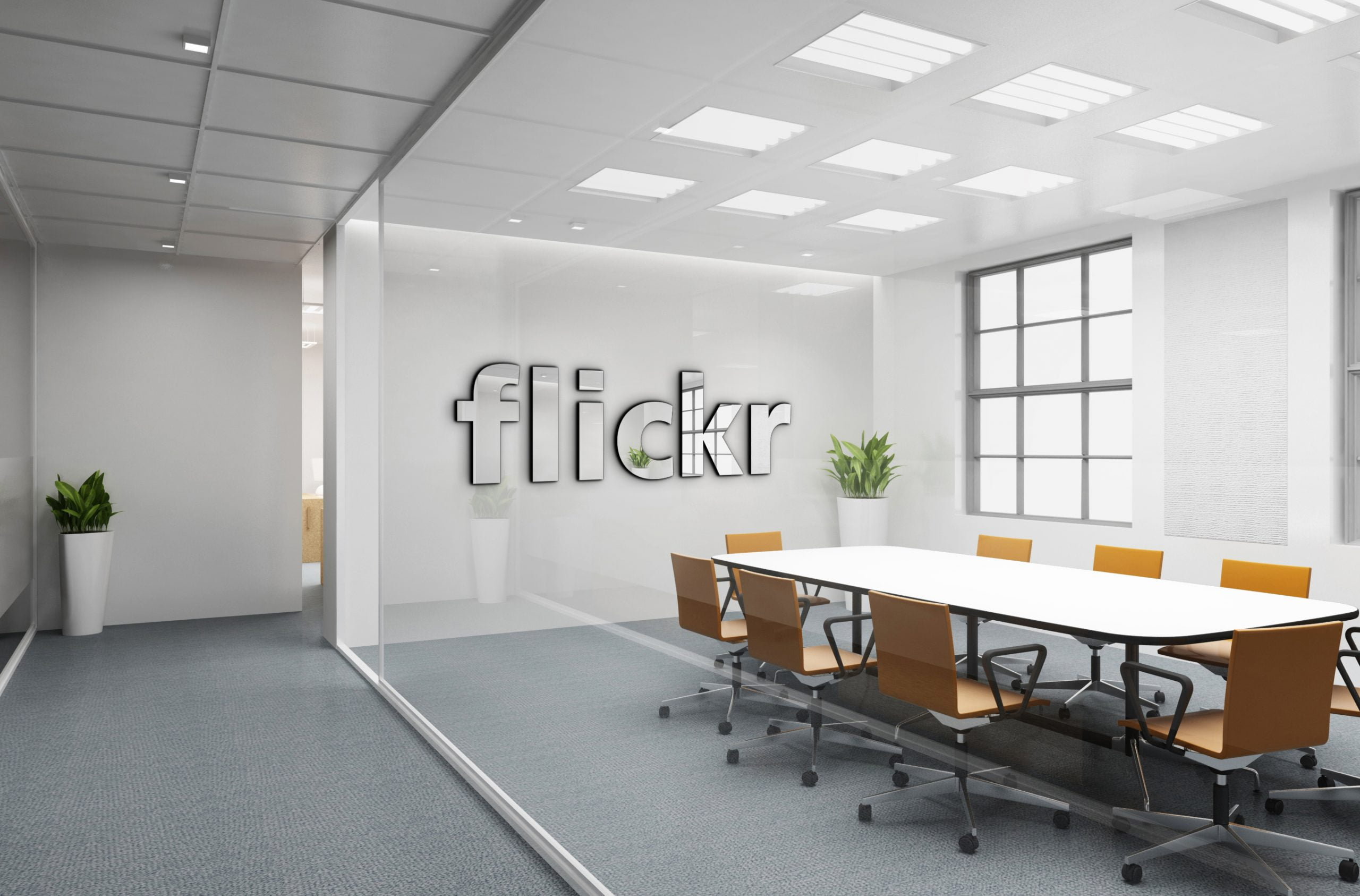 Flickr Free Office Logo Mockup