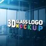 3D Glass Logo Mockup by GraphicsFamily.com