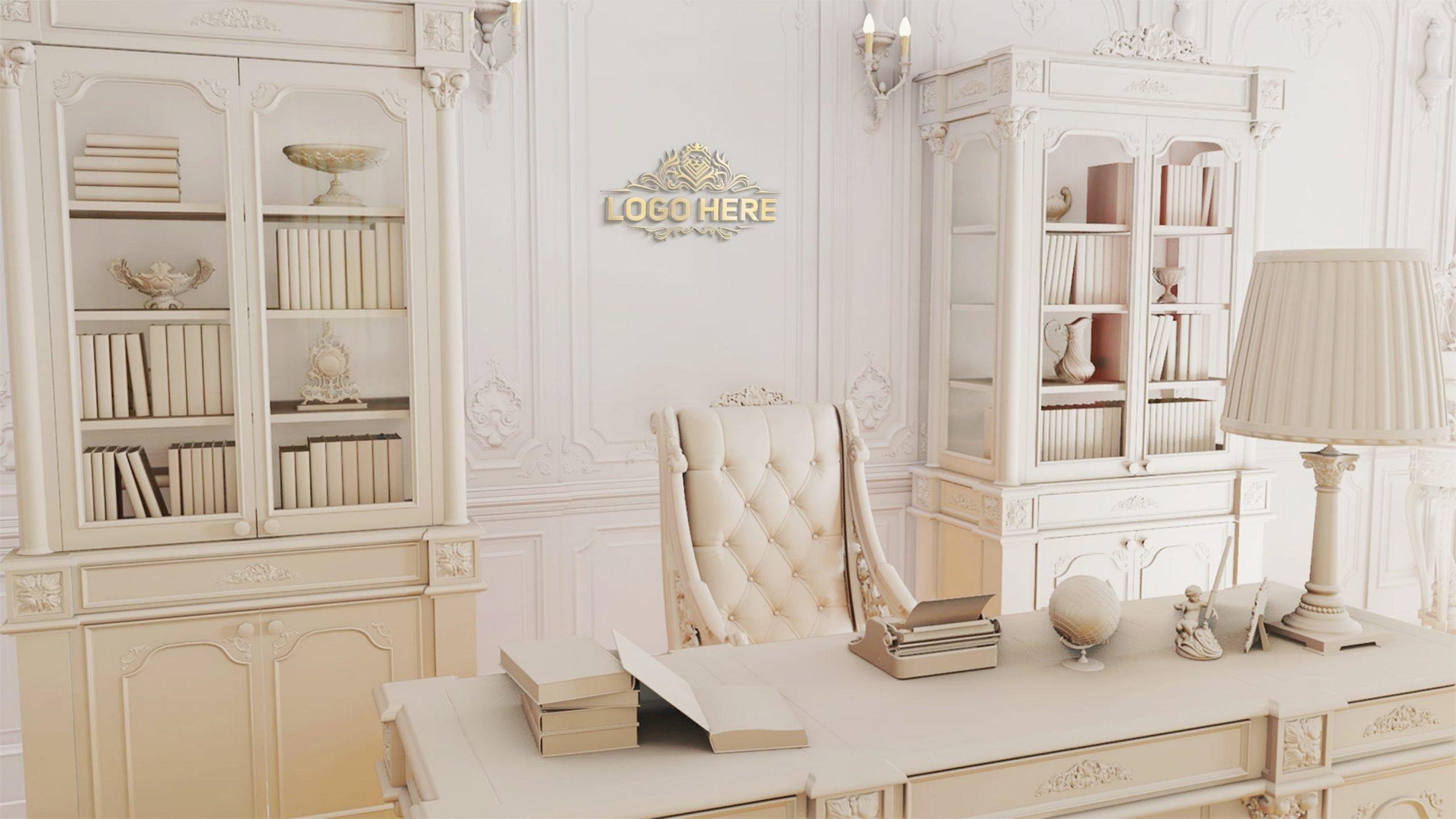 Royal Luxury Office Logo Mockup