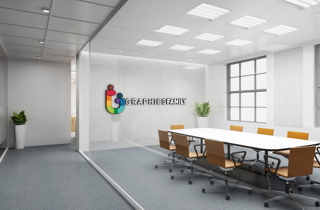 GraphicsFamily Free Office Logo Mockup