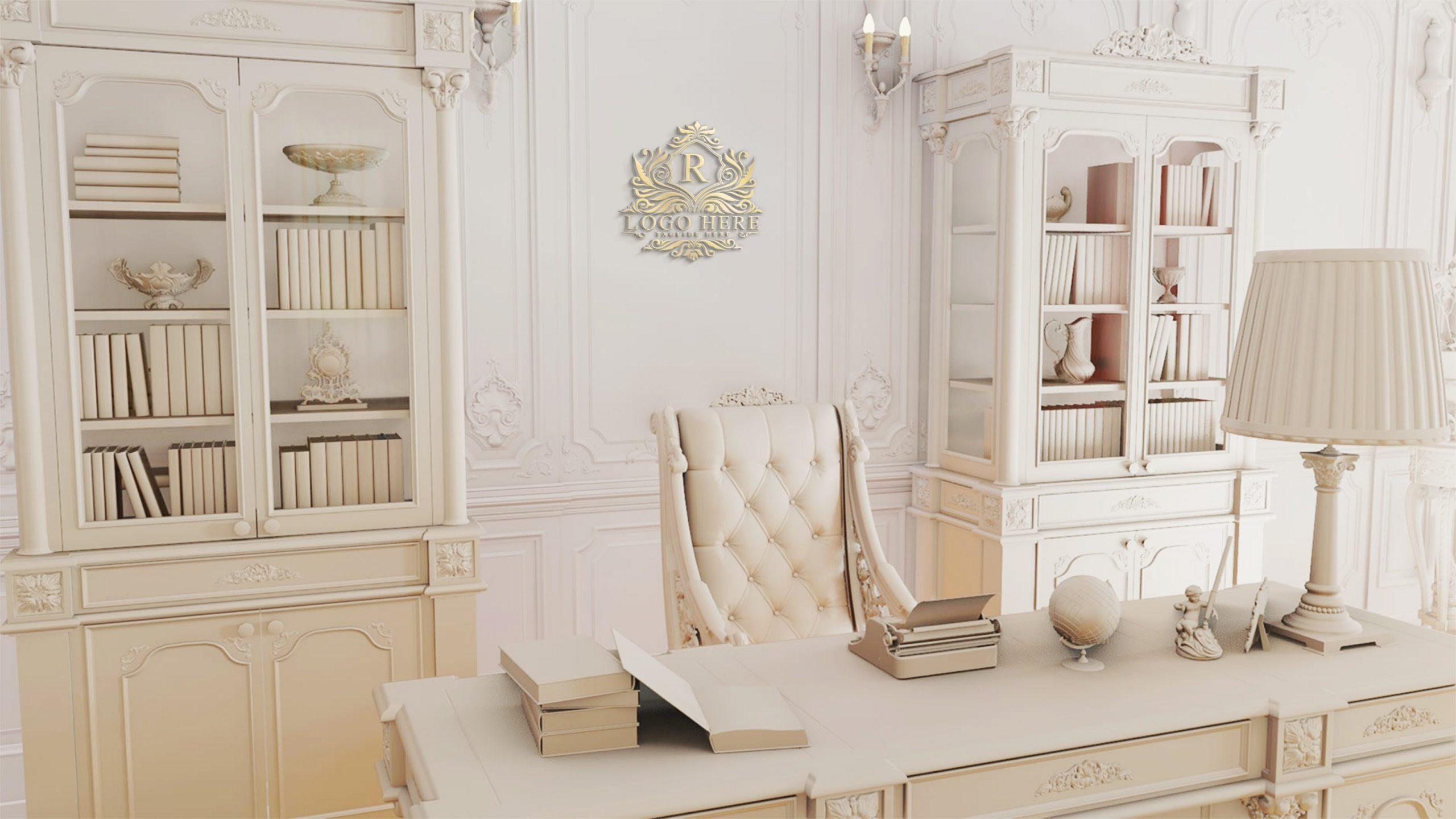 Luxury Office Royal Logo Mockup