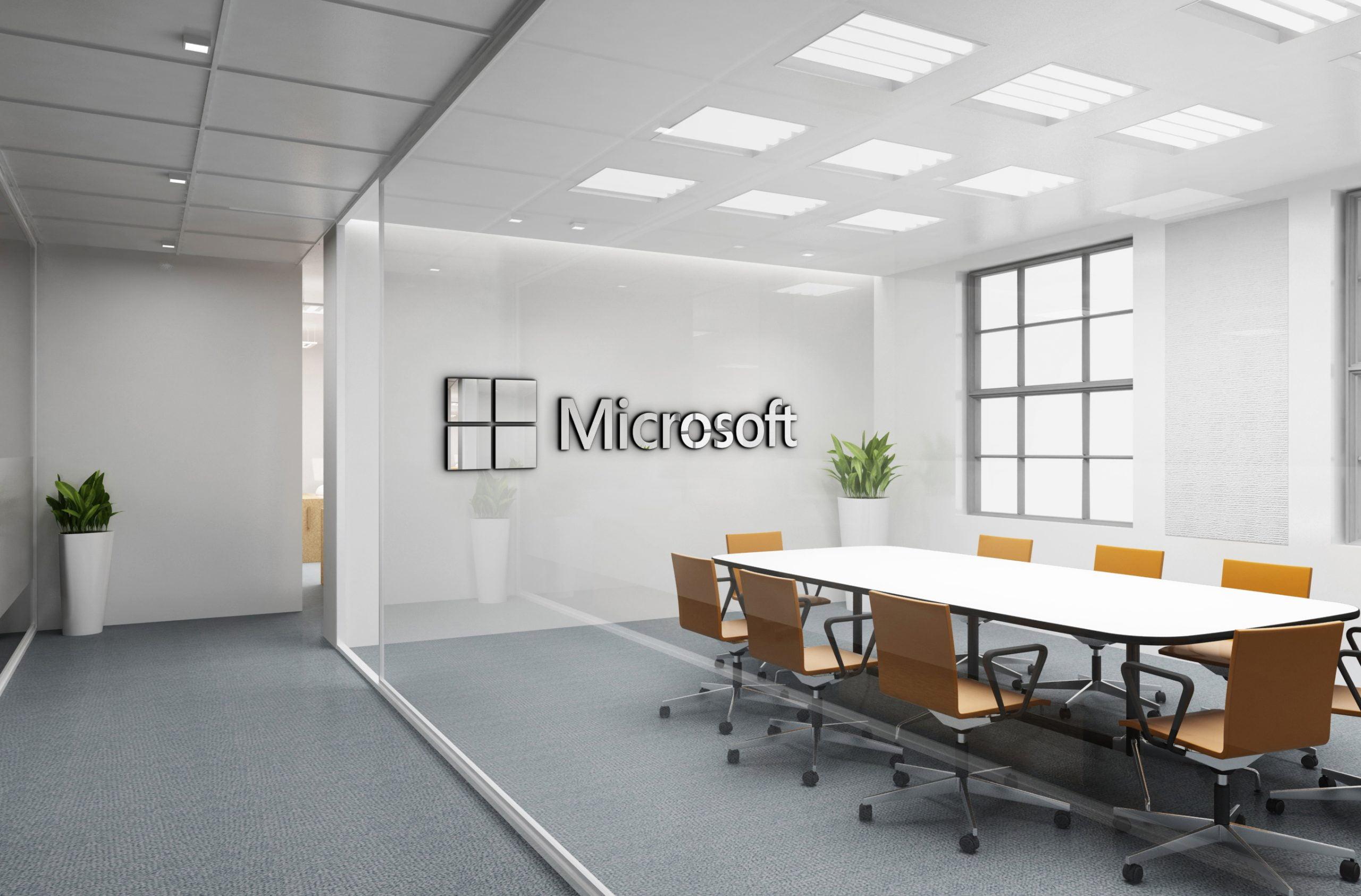 Microsoft Free Office Logo Mockup