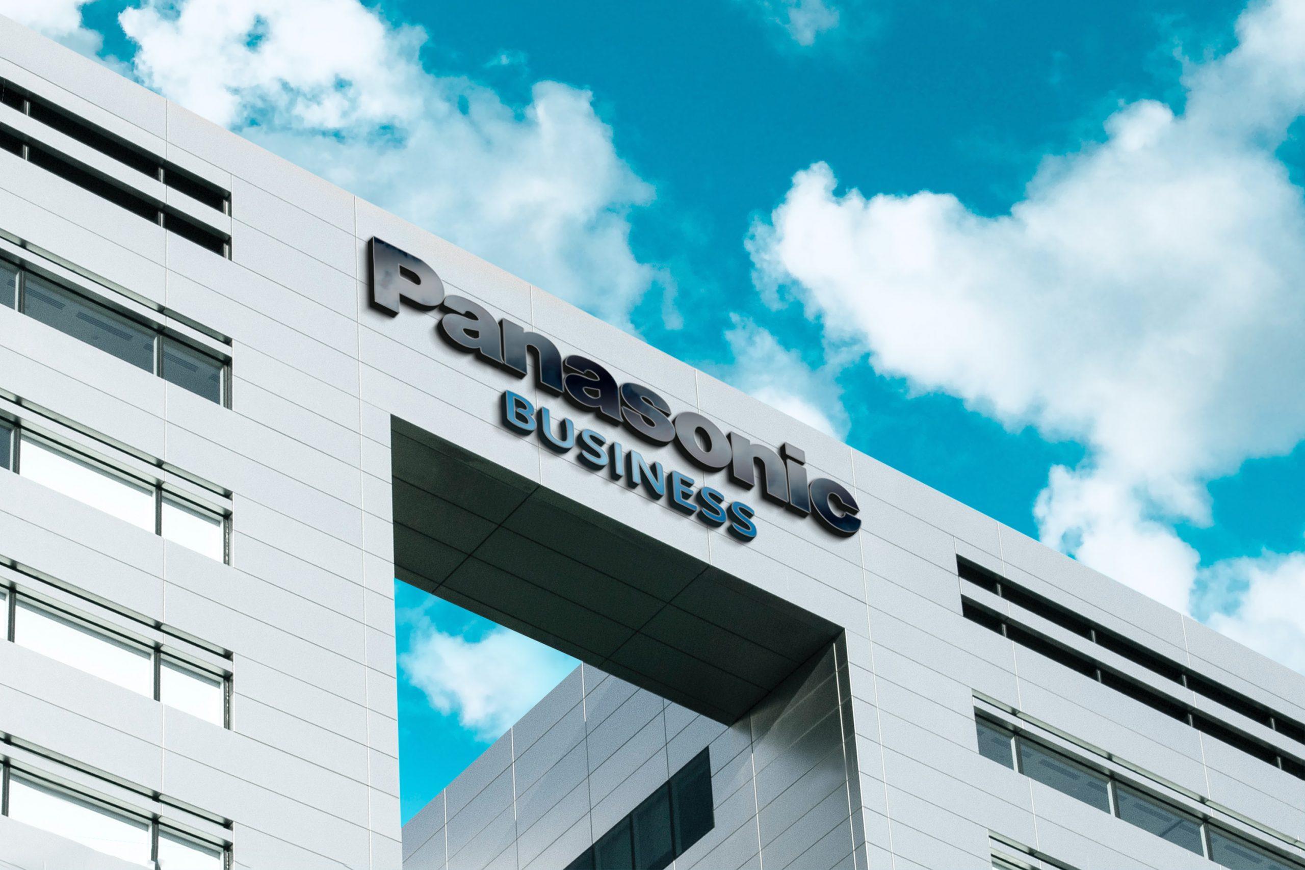 Panasonic 3D Company Logo Mockup