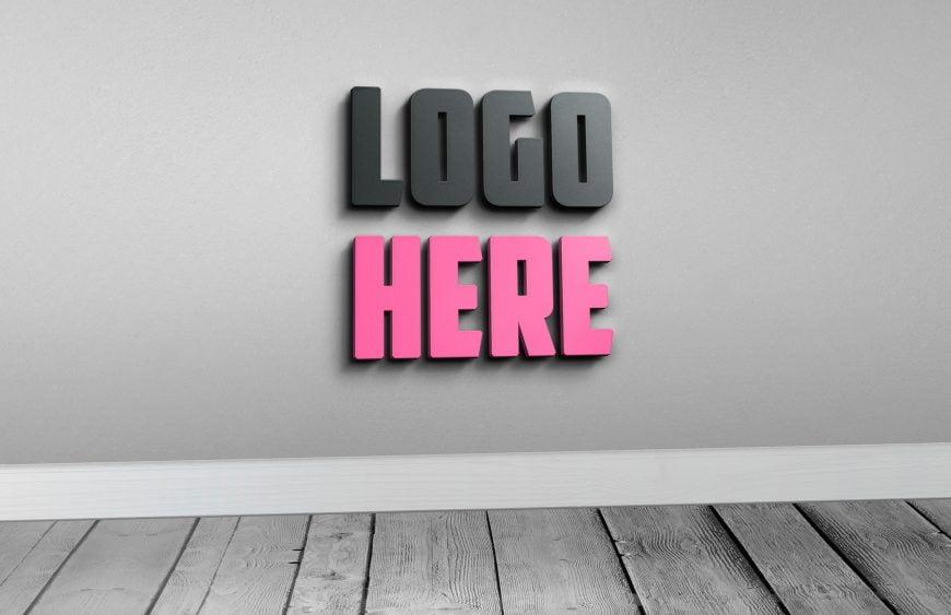 3D-Free-Photoshop-Logo-Mockup