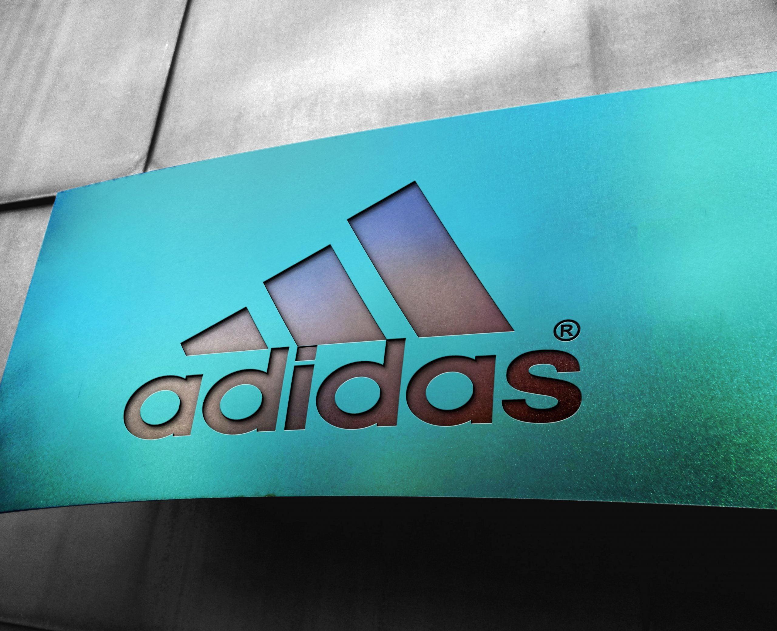 Adidas Free Metal Board Logo Mockup