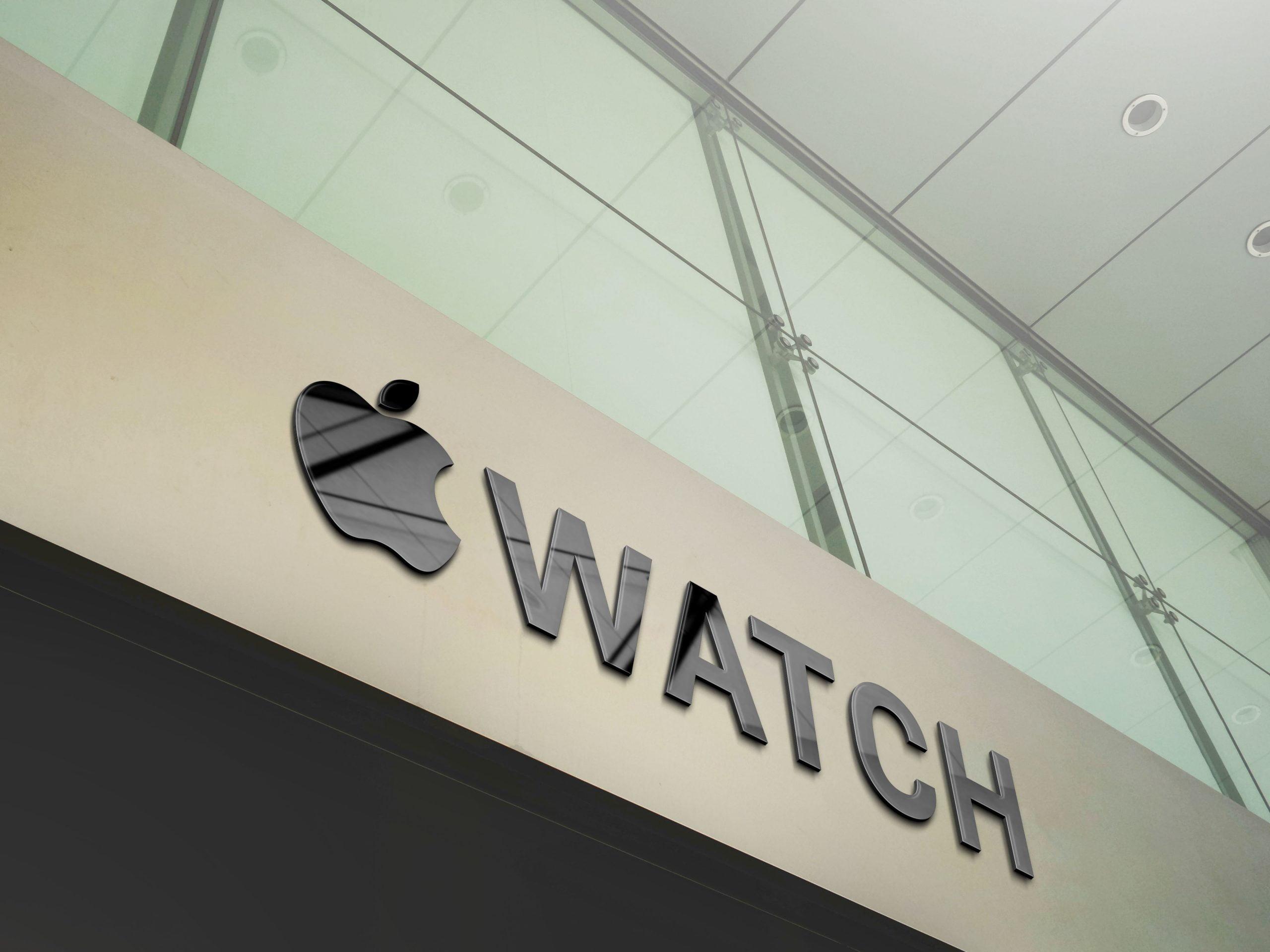 Apple Company Branding Logo Mockup