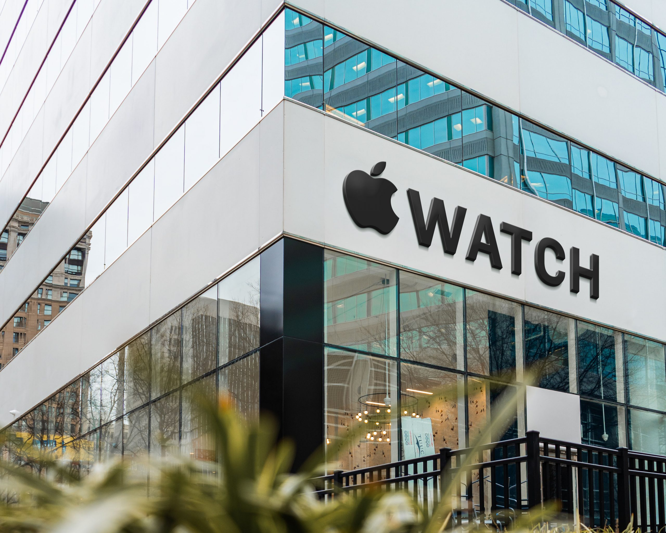 Apple Famous Store Logo Mockup