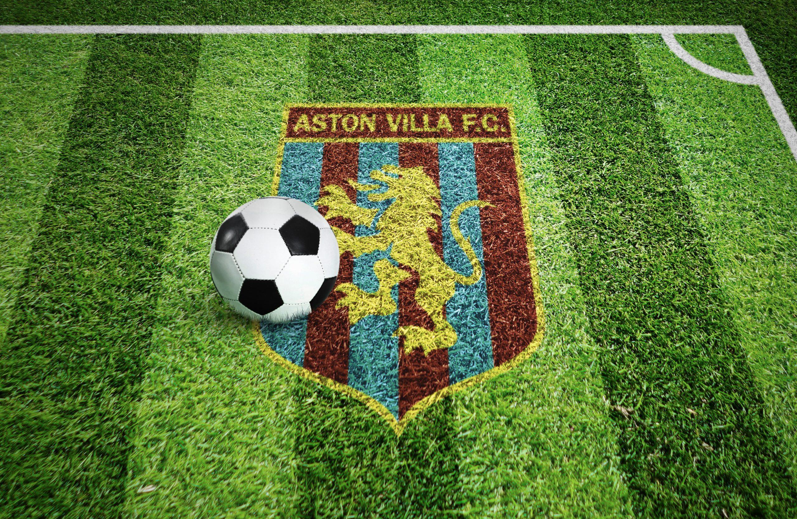 Aston Villa Stadium Grass Ground Logo Mockup