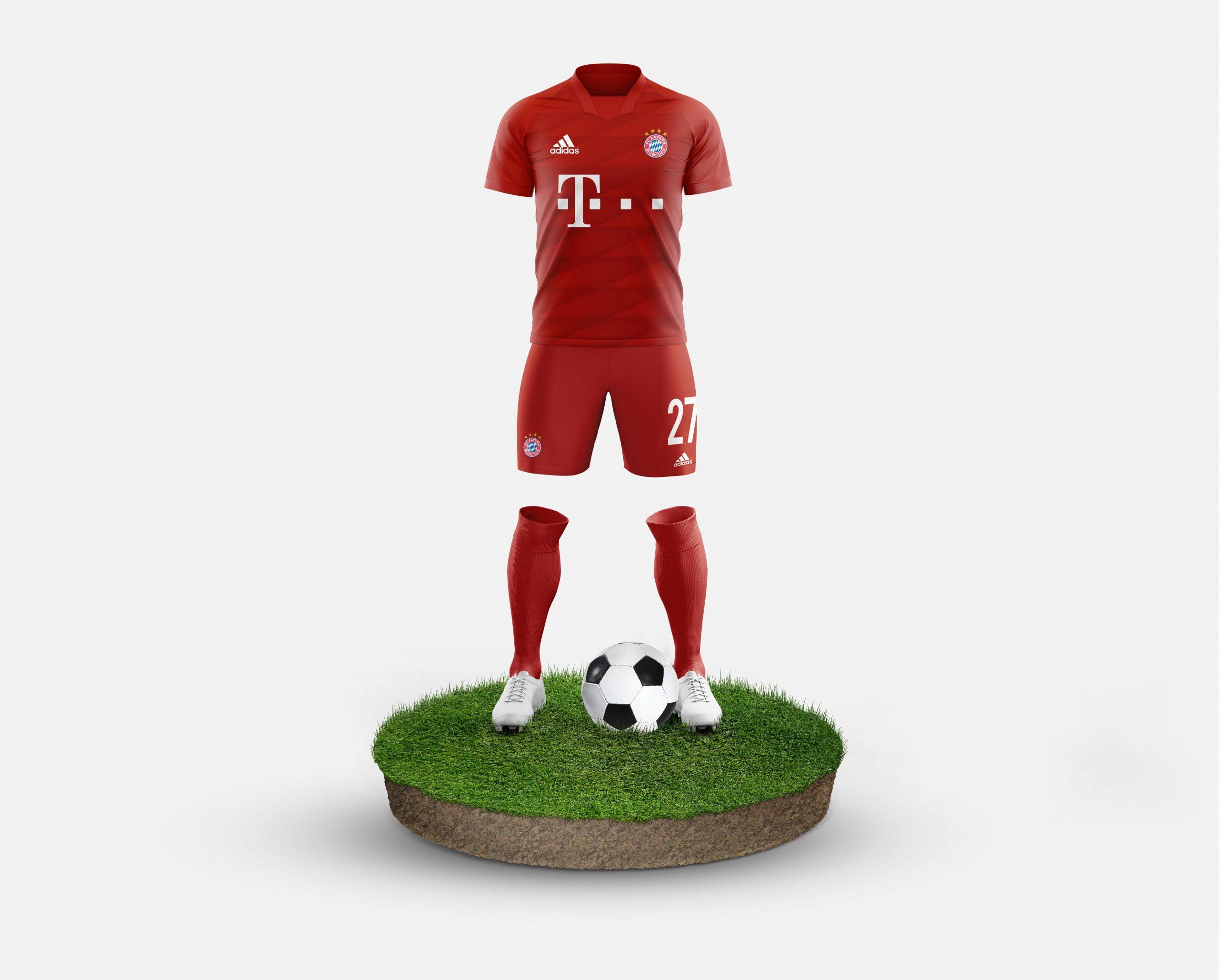 Bayern Munchen Free Football Kit Mockup Template