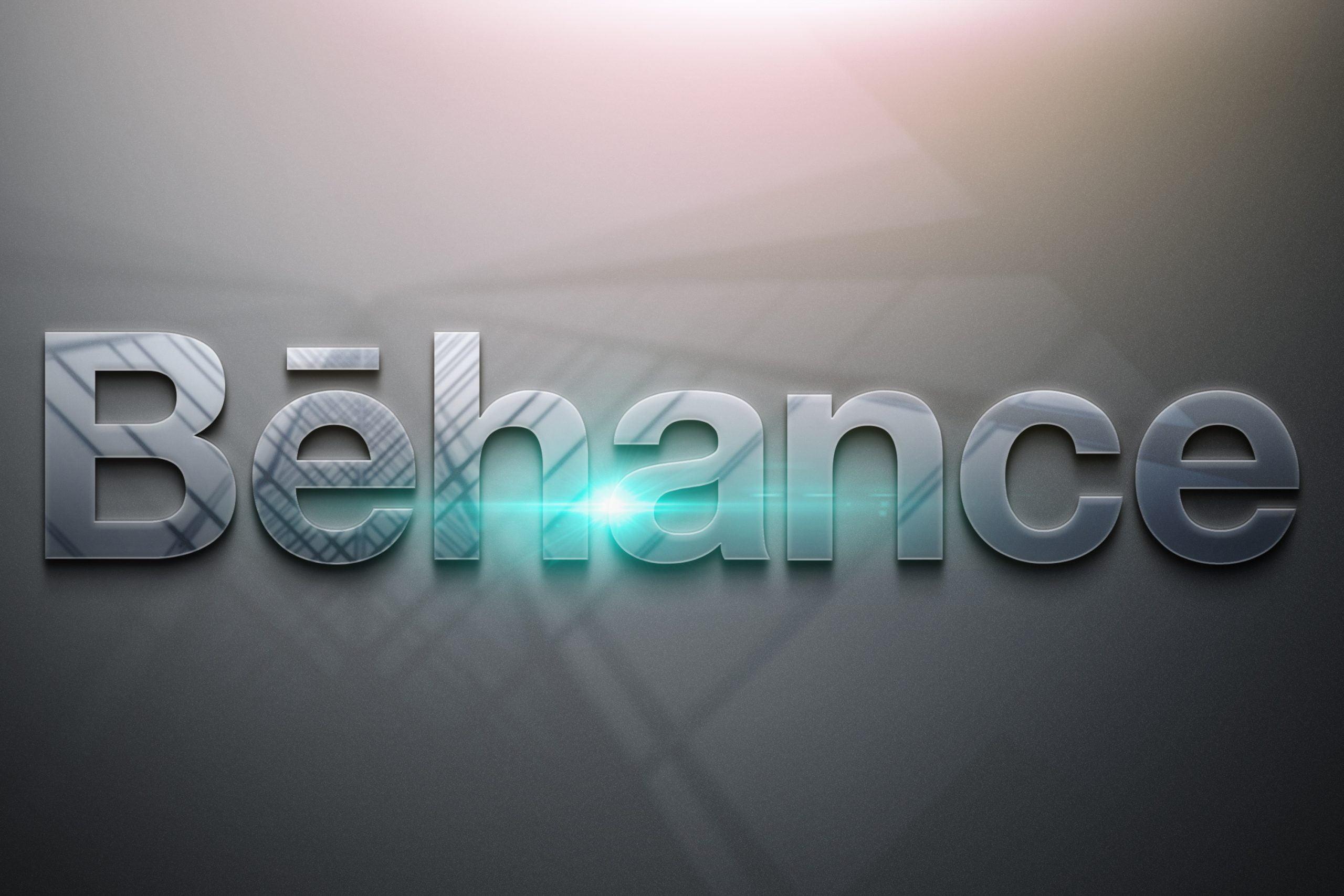 Behance-Free-Photoshop-Glossy-3D-Logo-Mockup