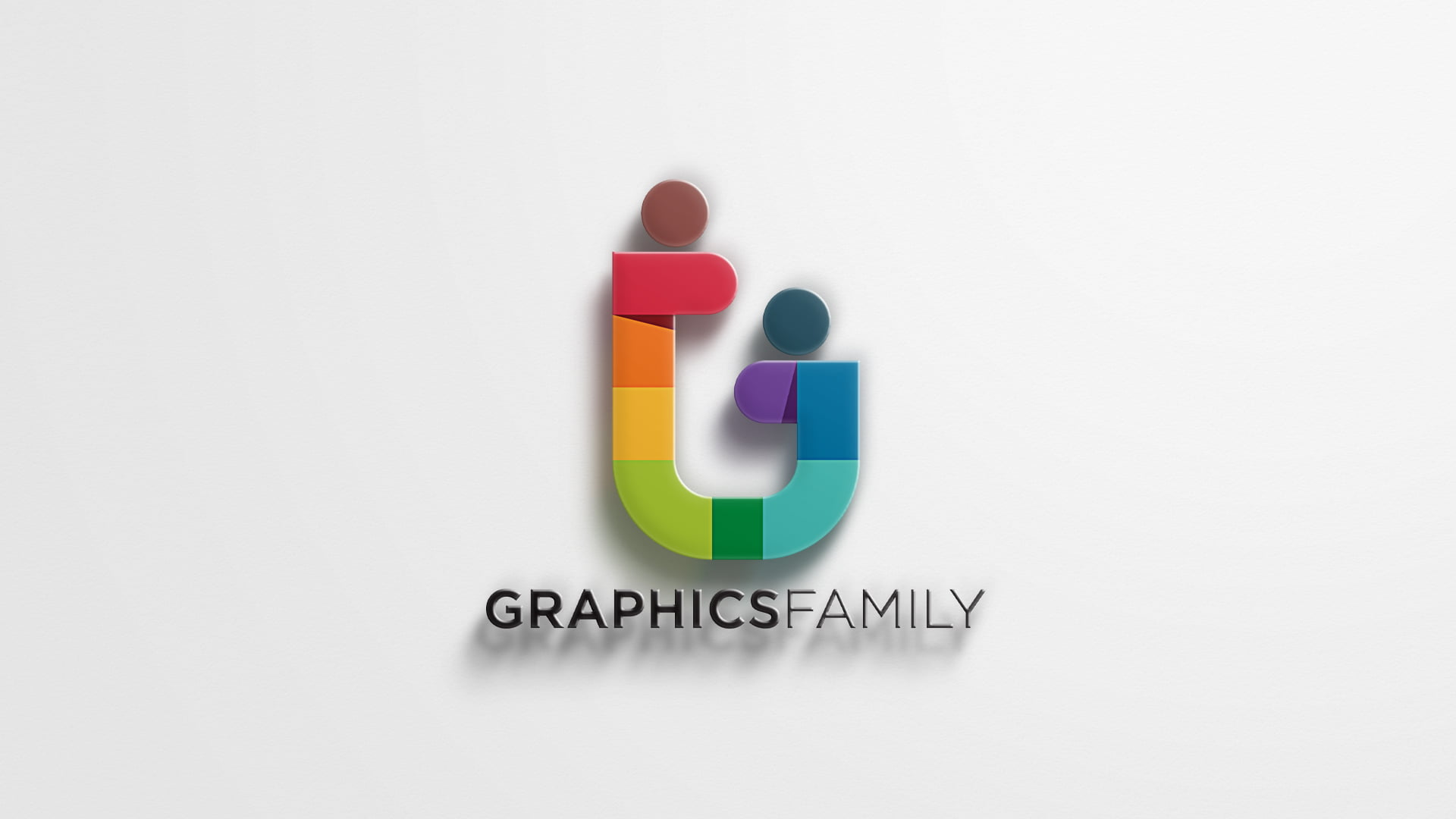 Free 3D Logo Mockup With Realistic Shadow by GraphicsFamily