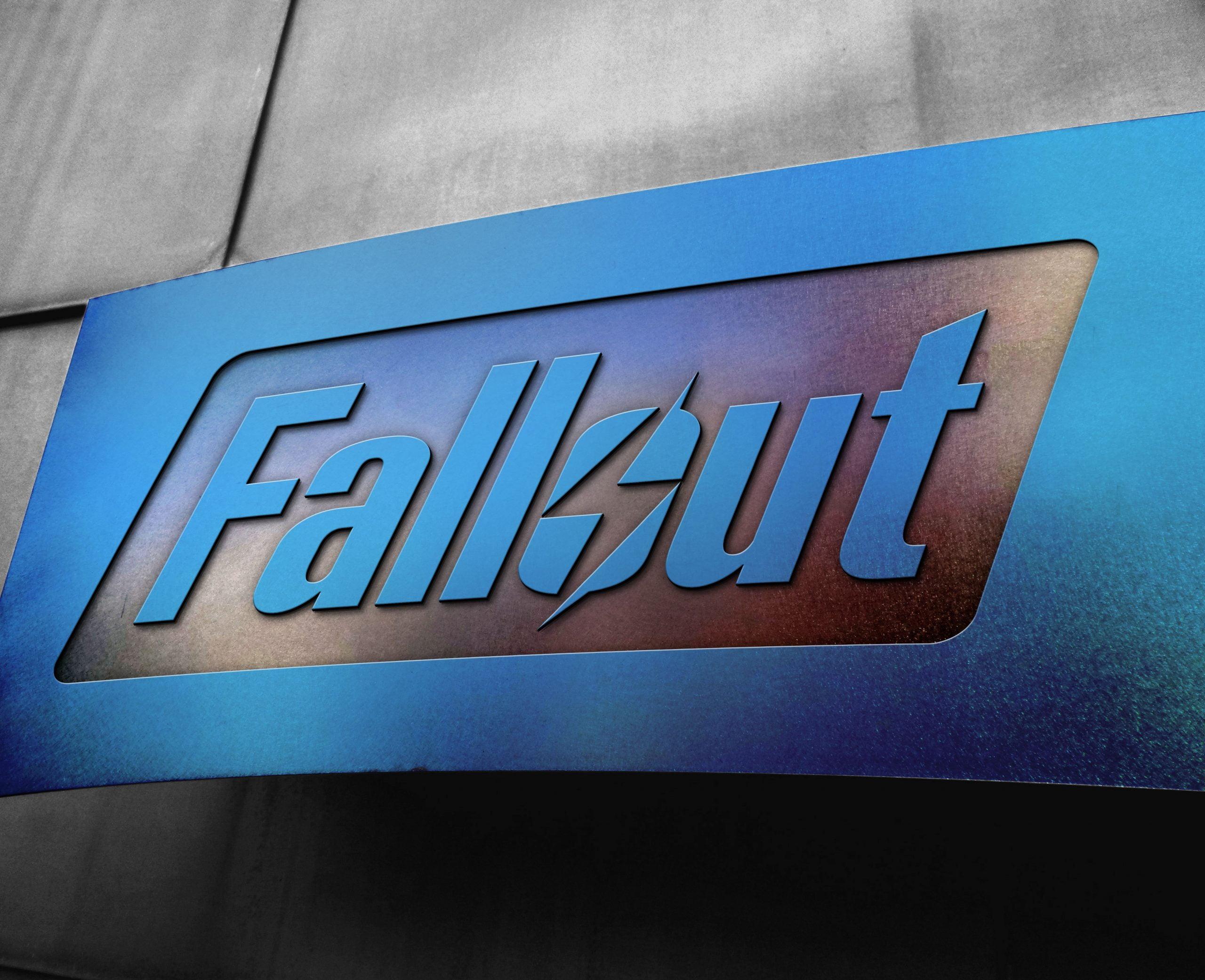 Fallout Free Metal Board Logo Mockup