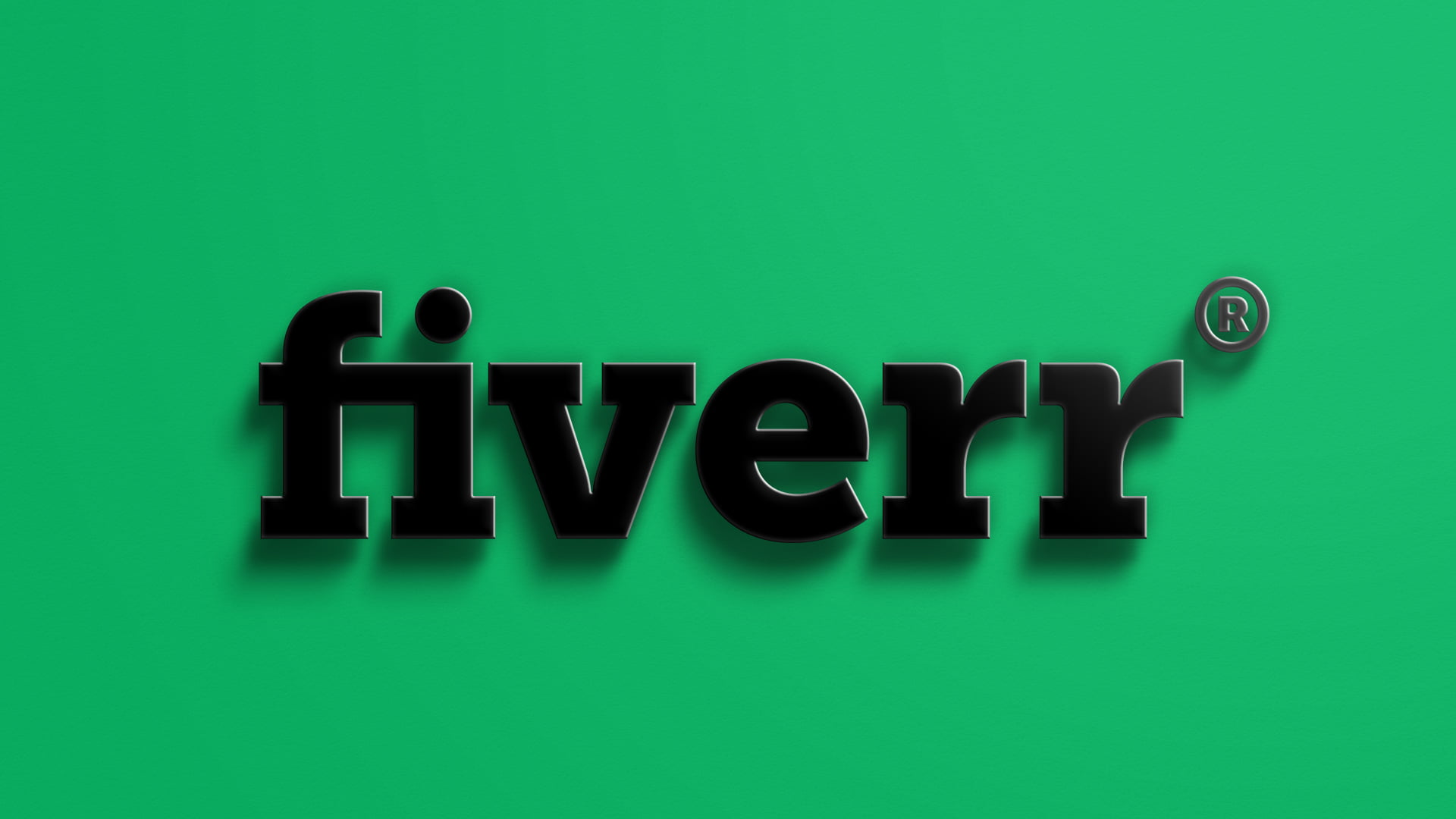 Fiverr Logo 3D Logo Mockup With Realistic Shadow by GraphicsFamily