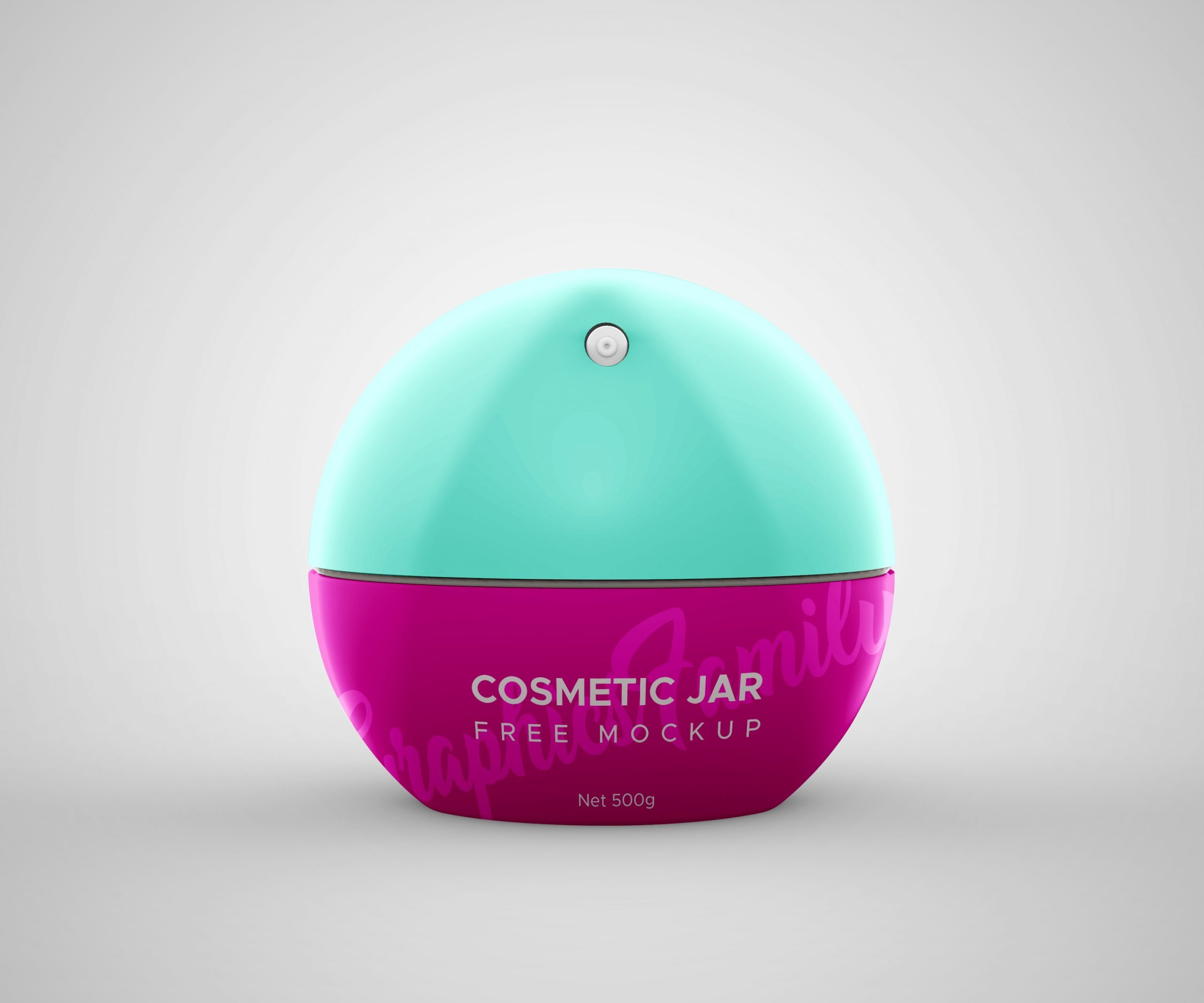 Free Cosmetic Jar Mockup by GraphicsFamily