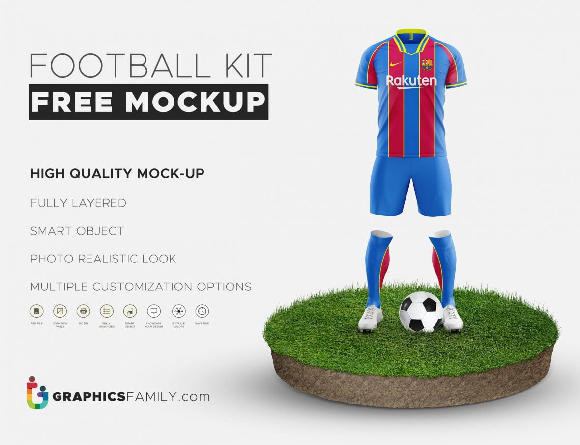 Free Football Kit Mockup Download
