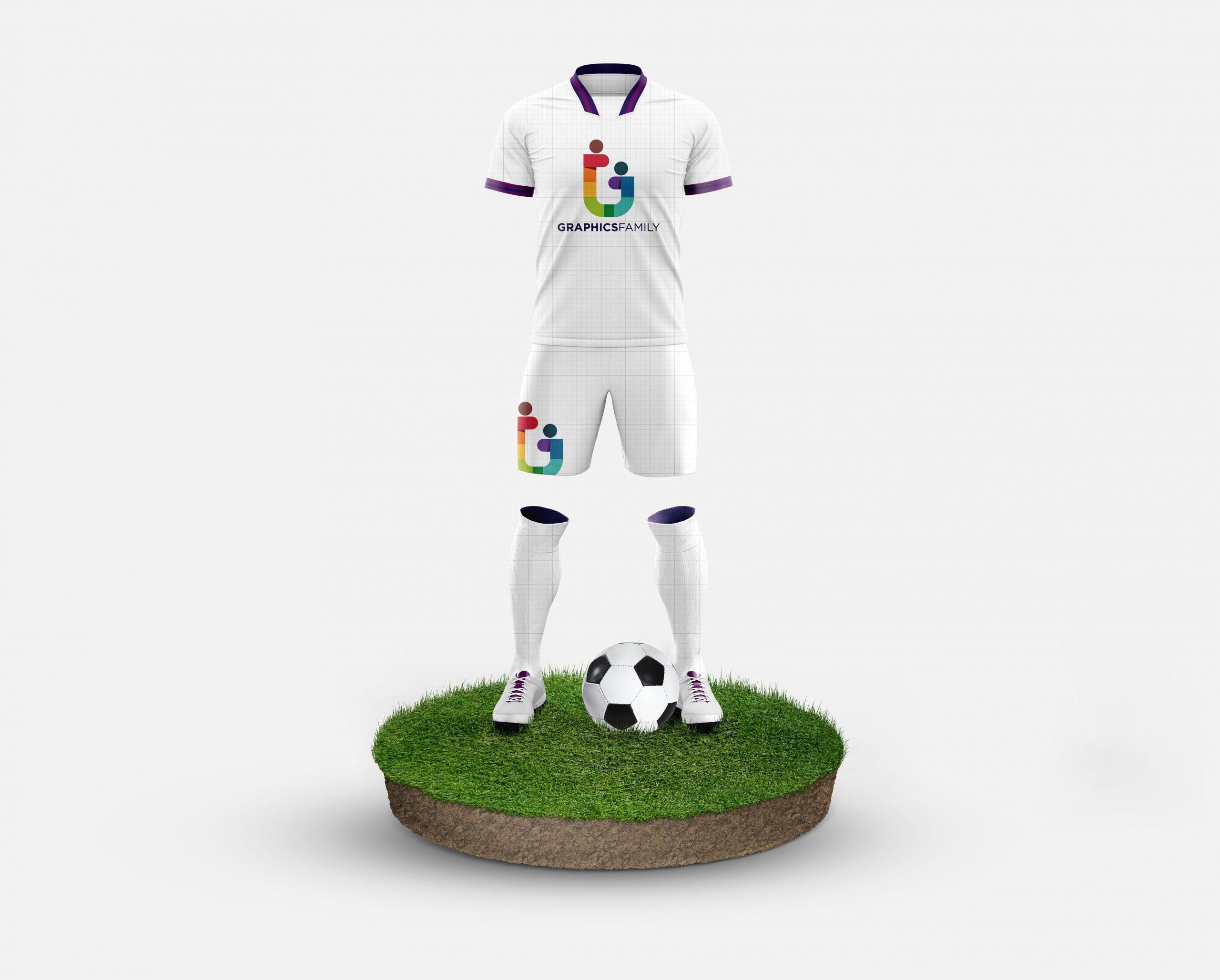 Free Football Kit Mockup Template GraphicsFamily