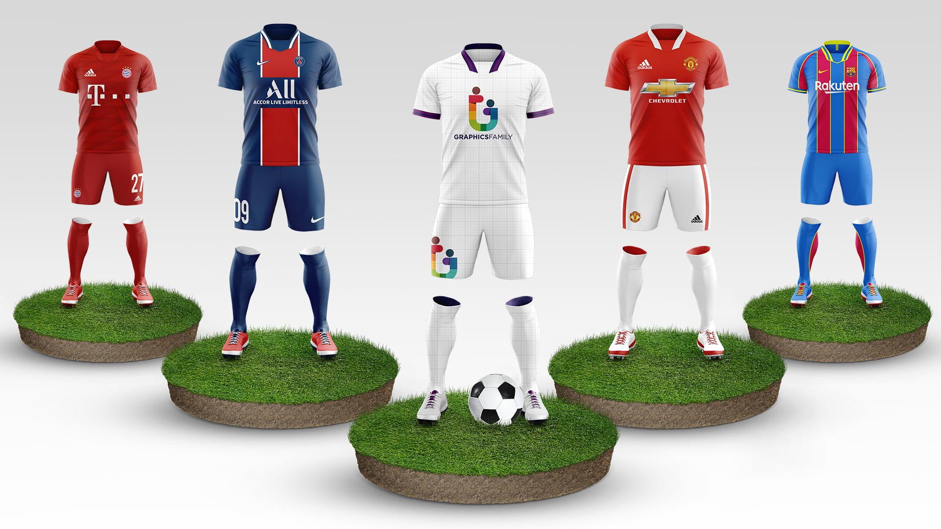 Free Football Kit Mockup Template