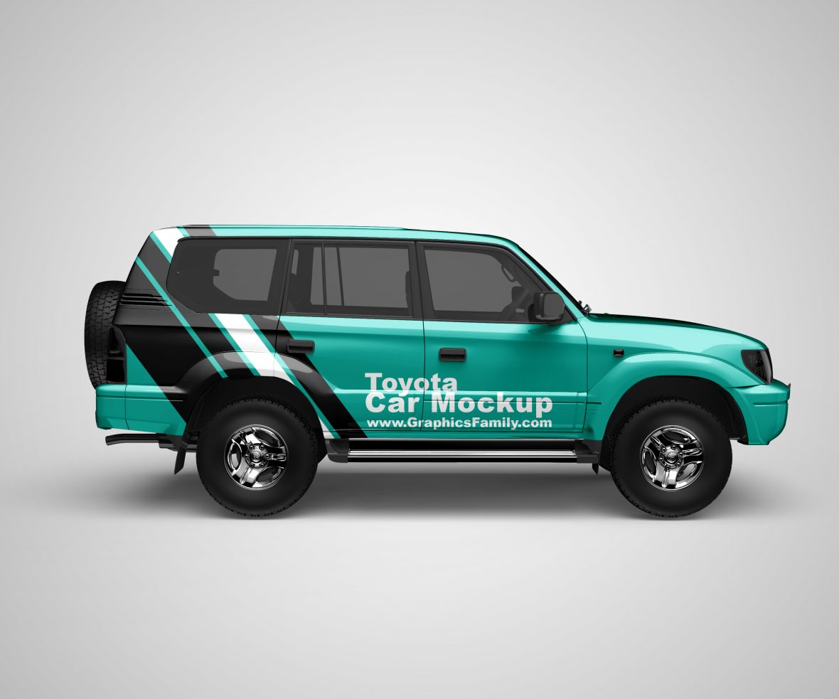 Free Toyota Land Cruiser Mockup by GraphicsFamily