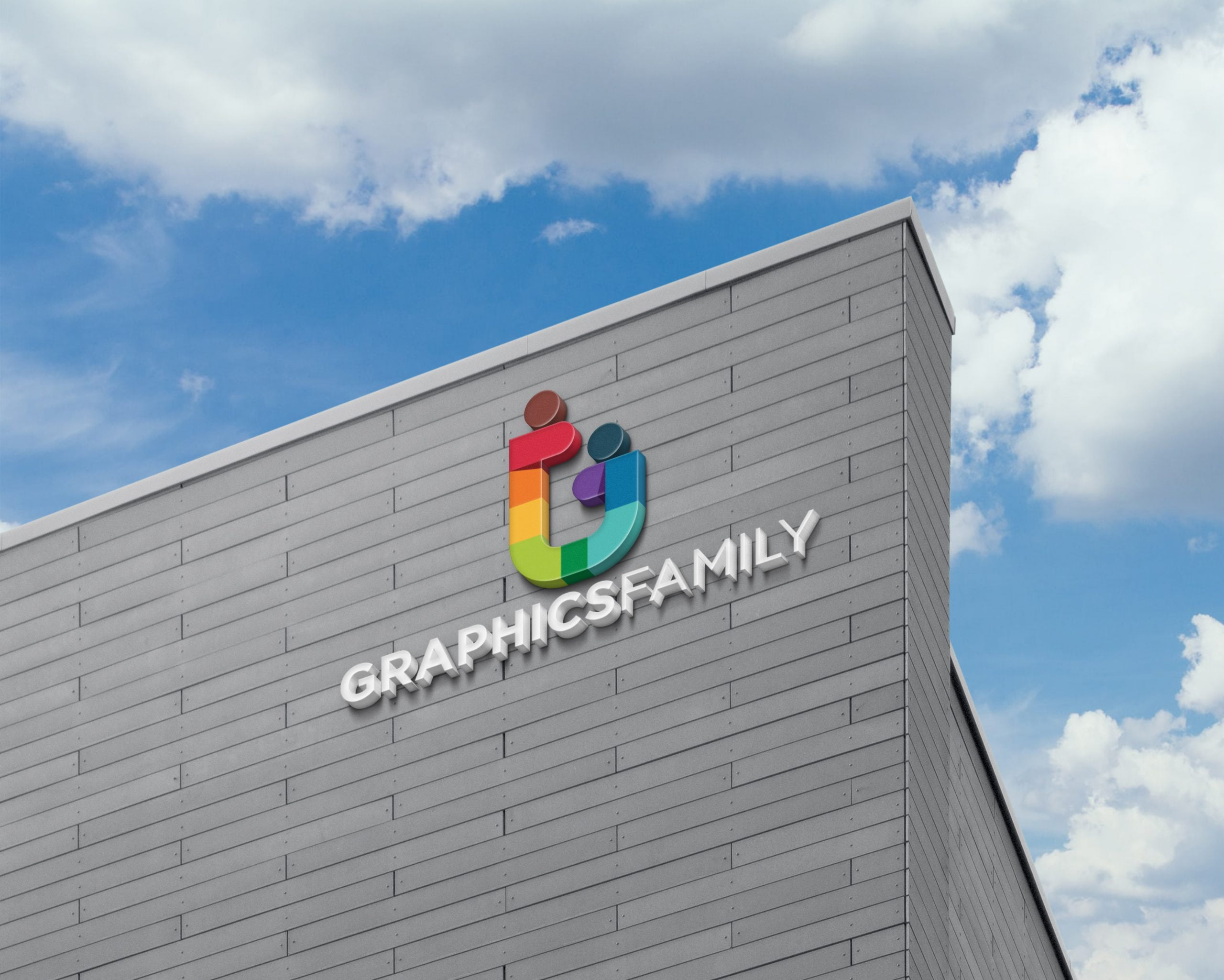 GraphicsFamily-Free-3D-Logo-Sign-on-Building-Facade-Wall-Mock-Up