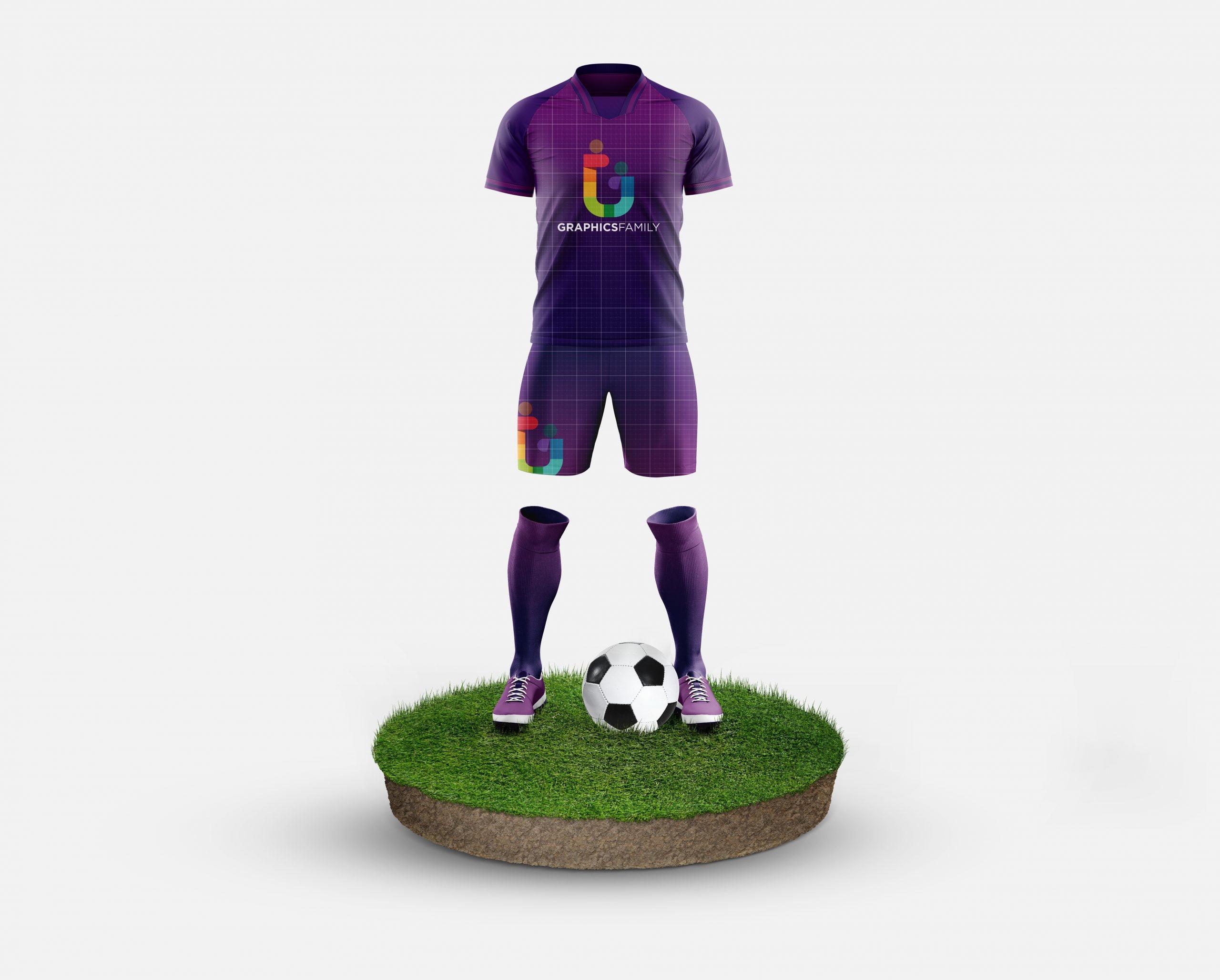 GraphicsFamily Free Football Kit Mockup Template