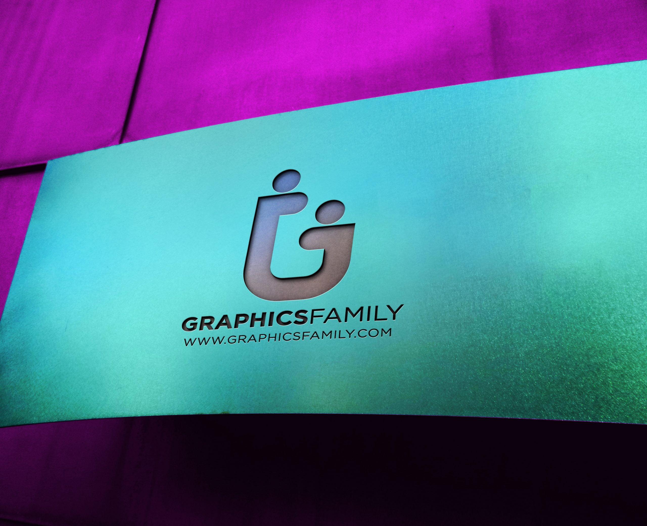 GraphicsFamily Free Metal Board Logo Mockup
