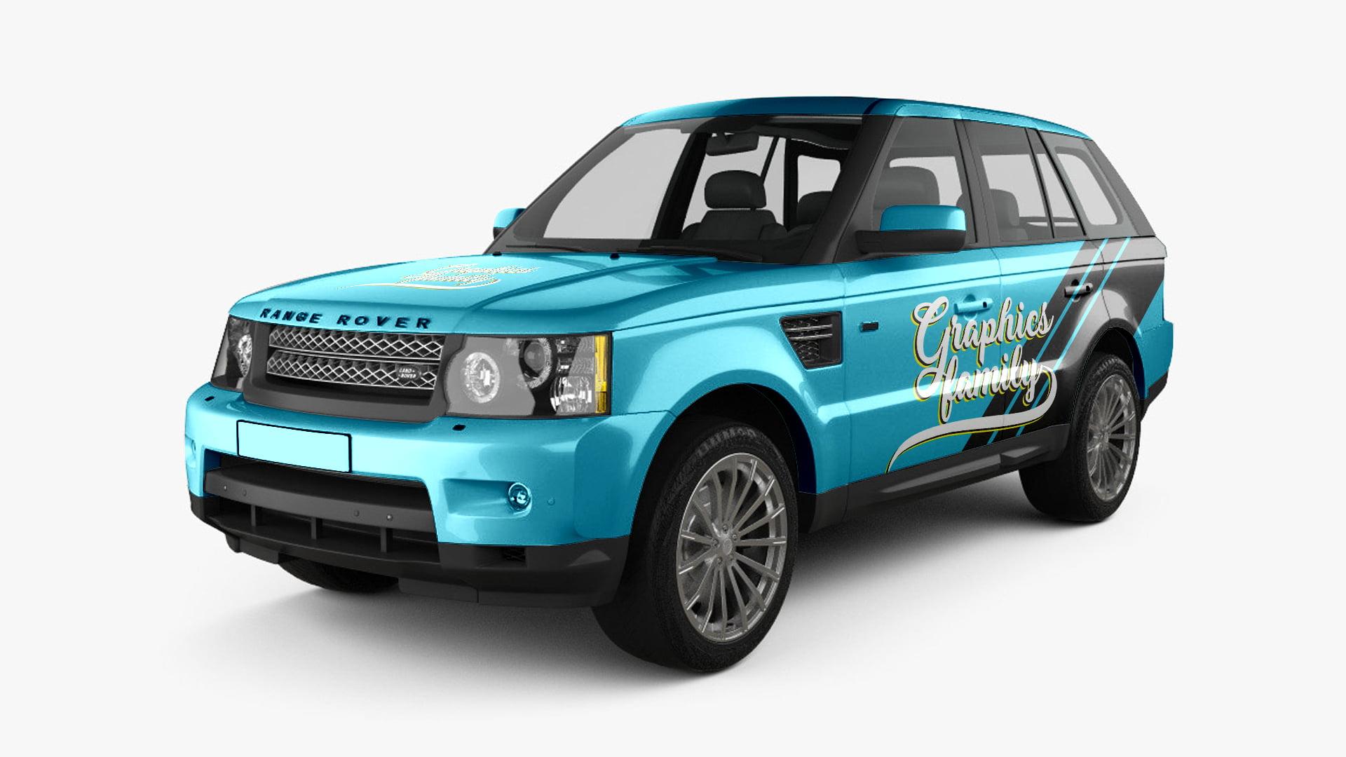 Free Range Rover Sport Mockup