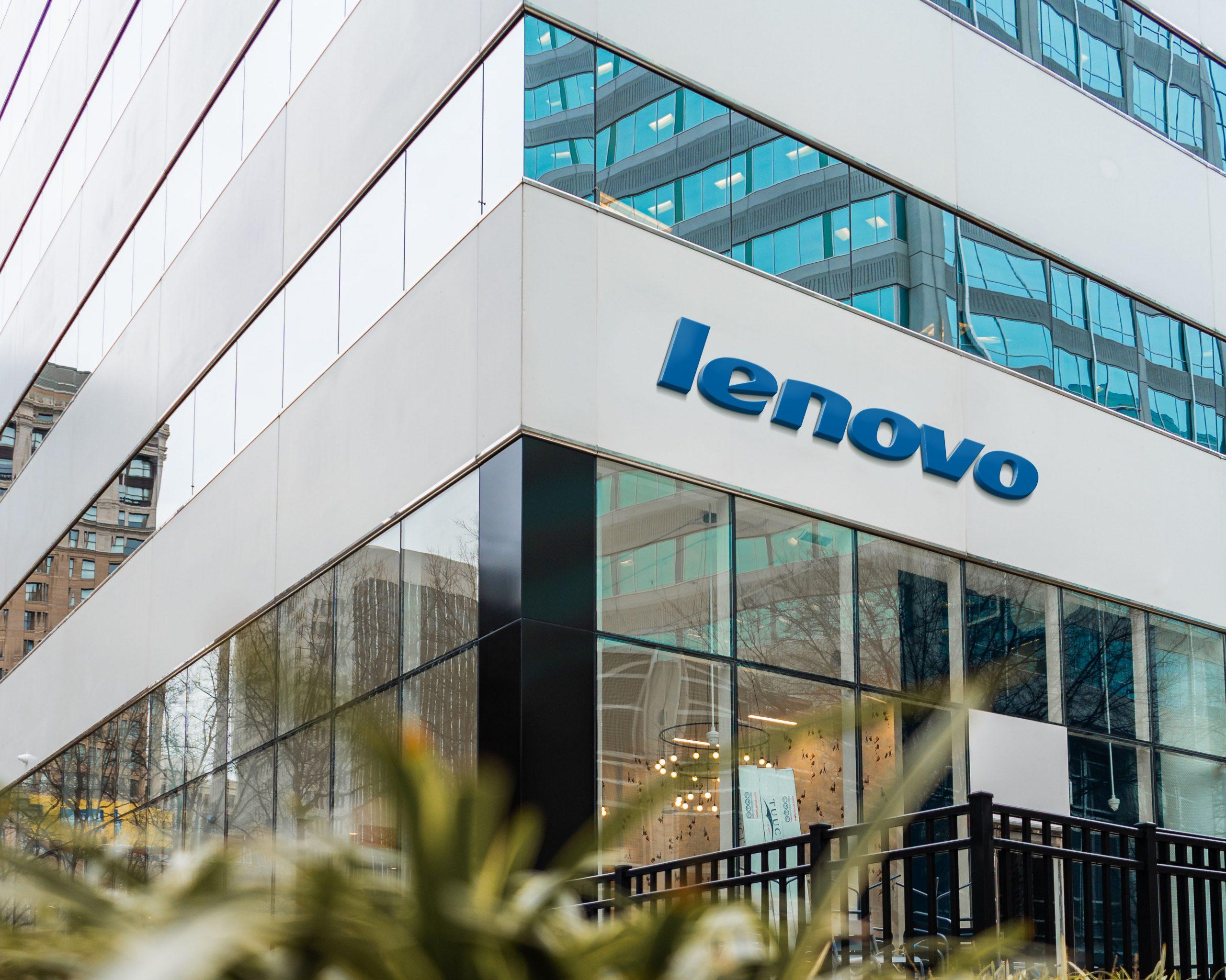 Lenovo Logo Famous Store Logo Mockup