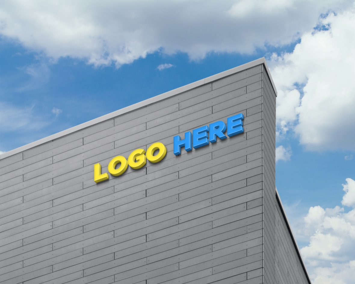 Logo-DOwnload-Free-3D-Logo-Sign-on-Building-Facade-Wall-Mock-Up